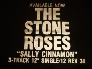 WOMENS RETRO MADCHESTER `THE STONE ROSES SALLY CINNAMON`POSTER T-SHIRT